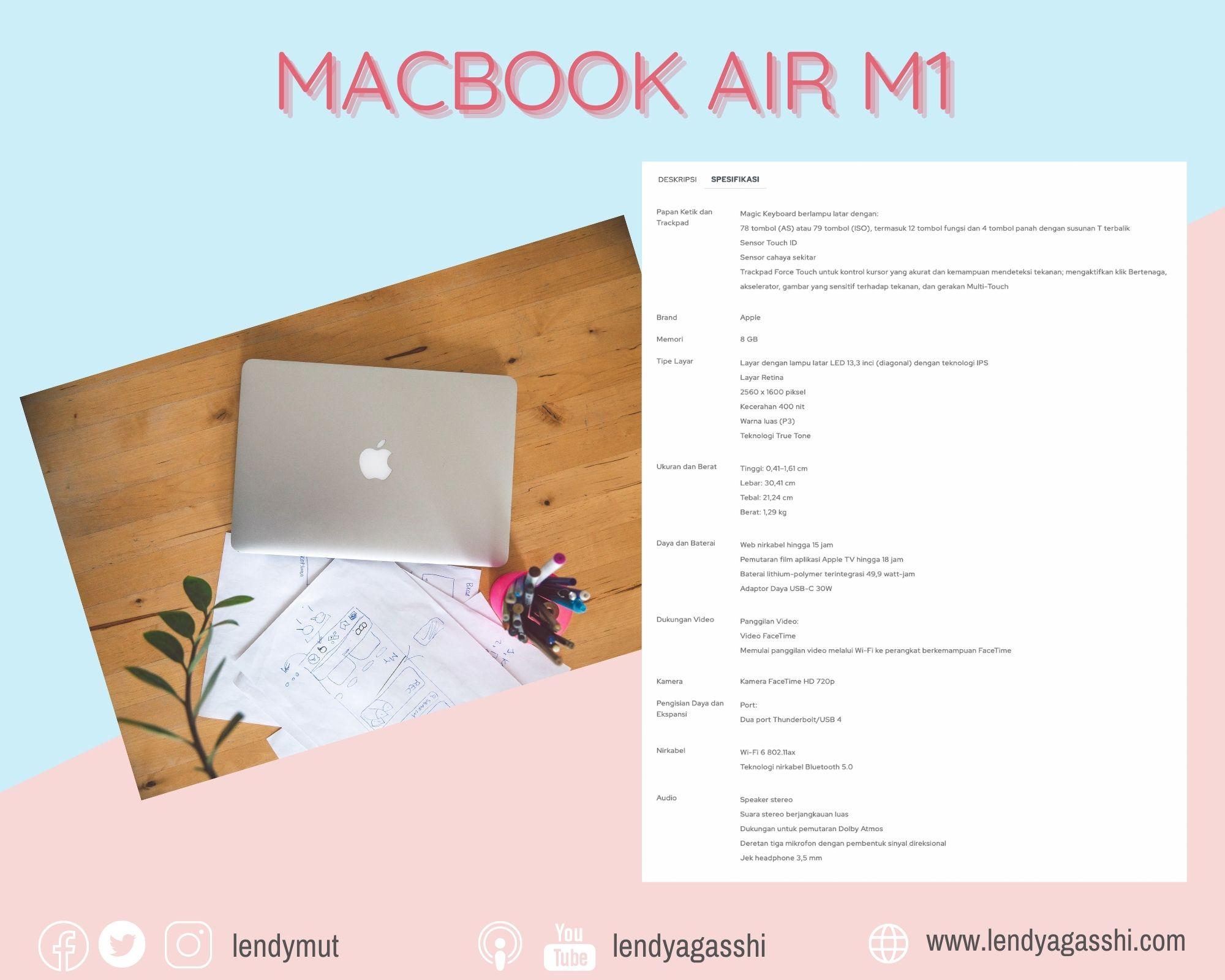 Spek MacBook Air M1
