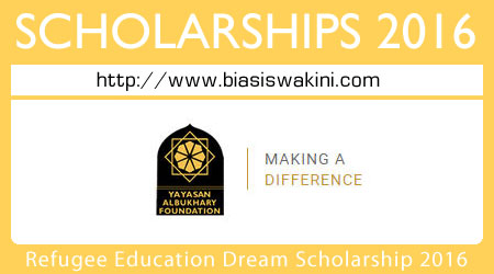 Refugee Education Dream Scholarship 2016