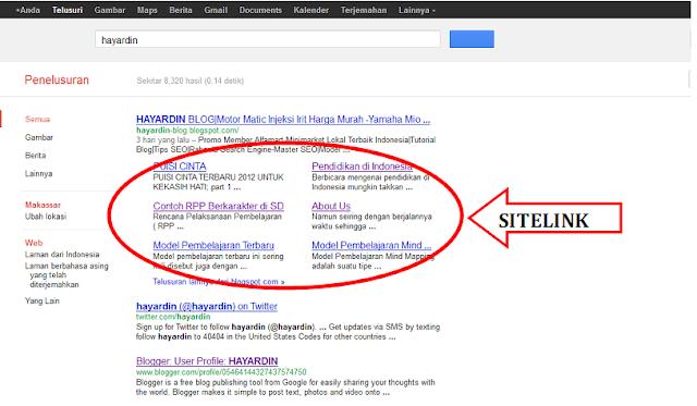 Apa Itu Google Sitelink