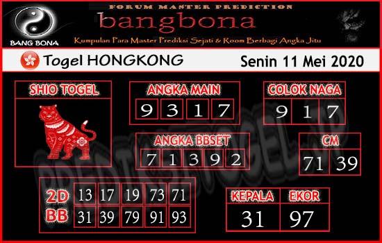 Prediksi HK Senin 11 Mei 2020 - Prediksi Bang Bona HK
