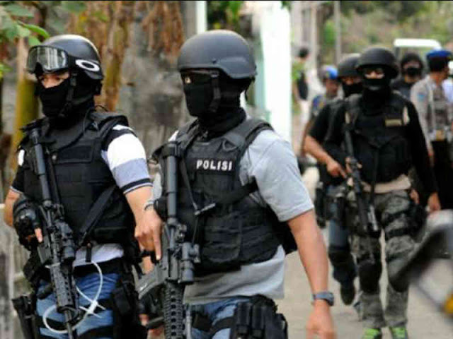 Polda Sulsel dan Densus 88 Amankan 4 Tersangka Teroris