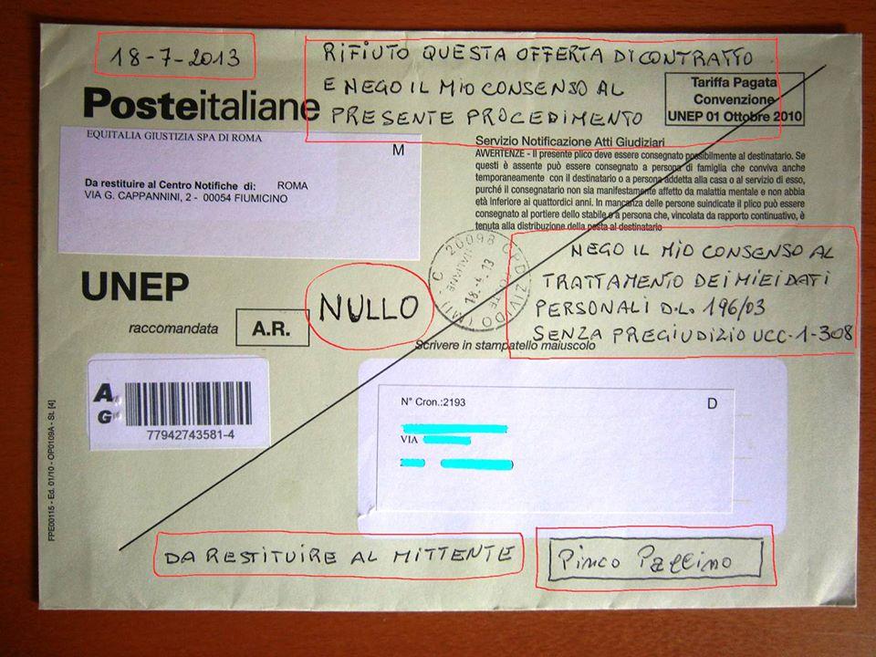 Ufficio Notifiche A Roma : La via della vita rigettata