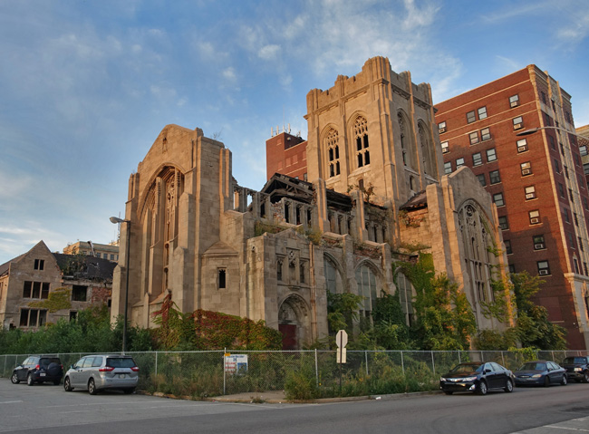 City Methodist Church Abandoned Gothic Ruins in Gary Indiana