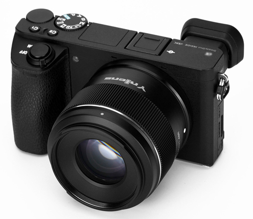 Объектив Yongnuo YN 50mm f/1.8S DA DSM с камерой Sony