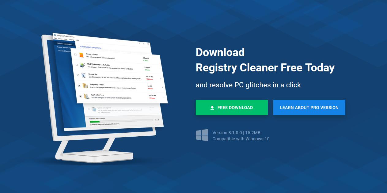 تحميل برنامج تنظيف الجهاز Auslogics Registry Cleaner