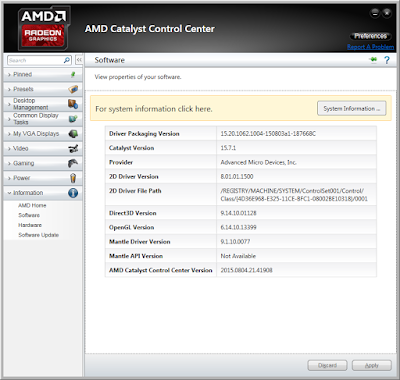 Display Control AMD Catalyst Software Suite 15.7.1