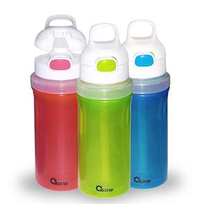 OX-300 Botol Minum Oxone Rainbow Twist & Turn Bottle 300ml - Biru