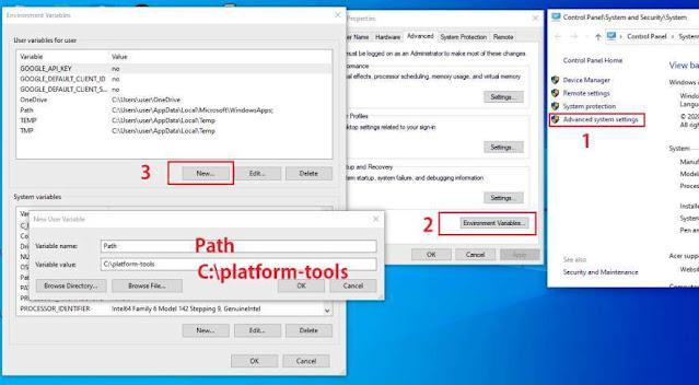 setting path folder di windows