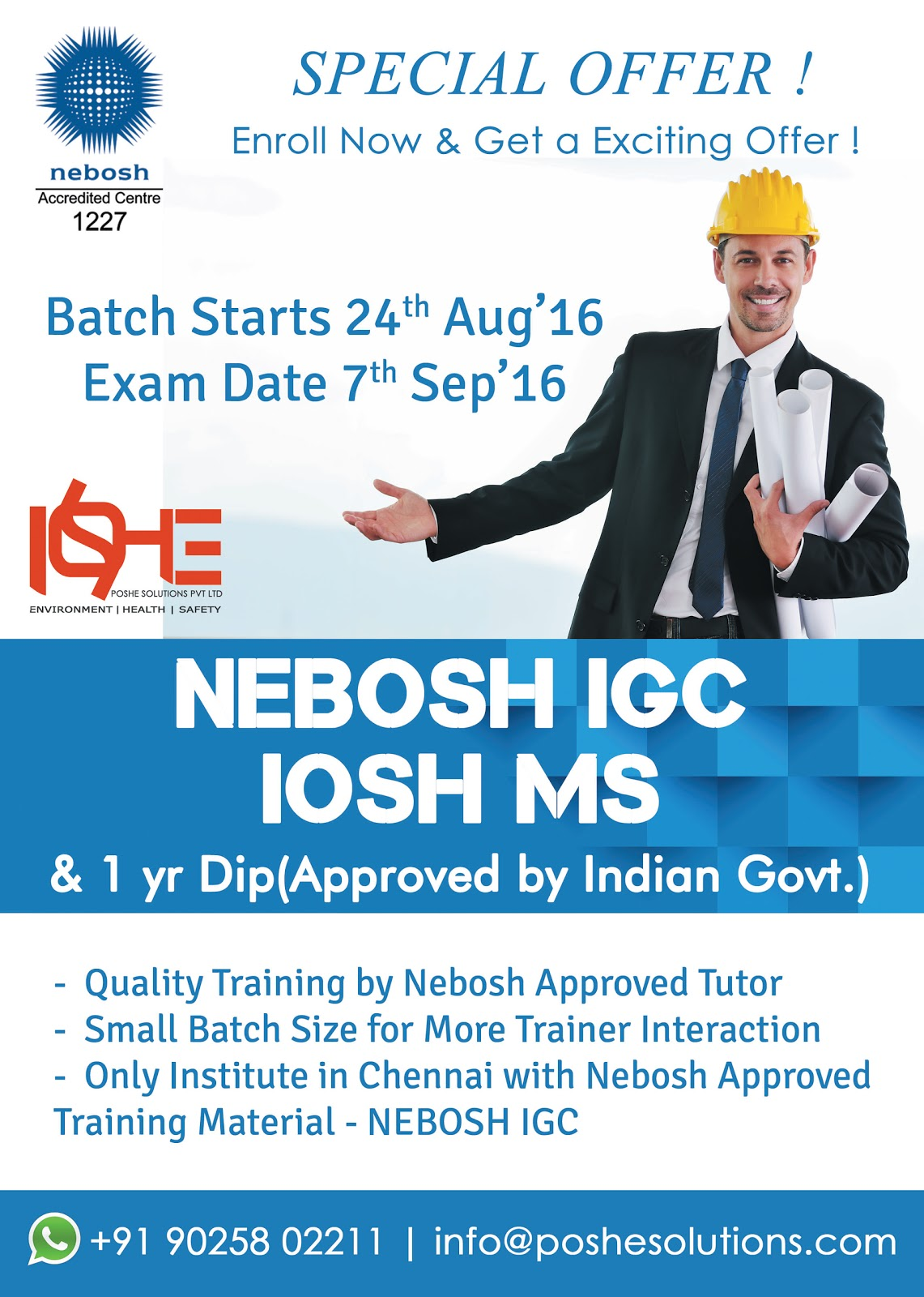 From POSHE Brings A Breakthrough For Your Career In Health And Safety Or Step Ahead To Do Further Qualifications Like NEBOSH International Diploma