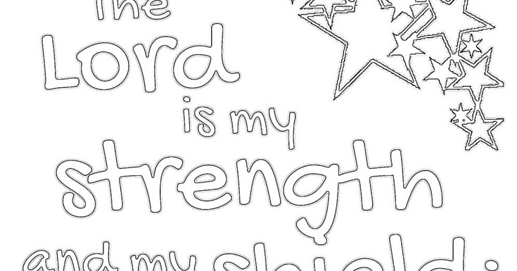 The Prudent Pantry: The Lord is My Strength Coloring Page