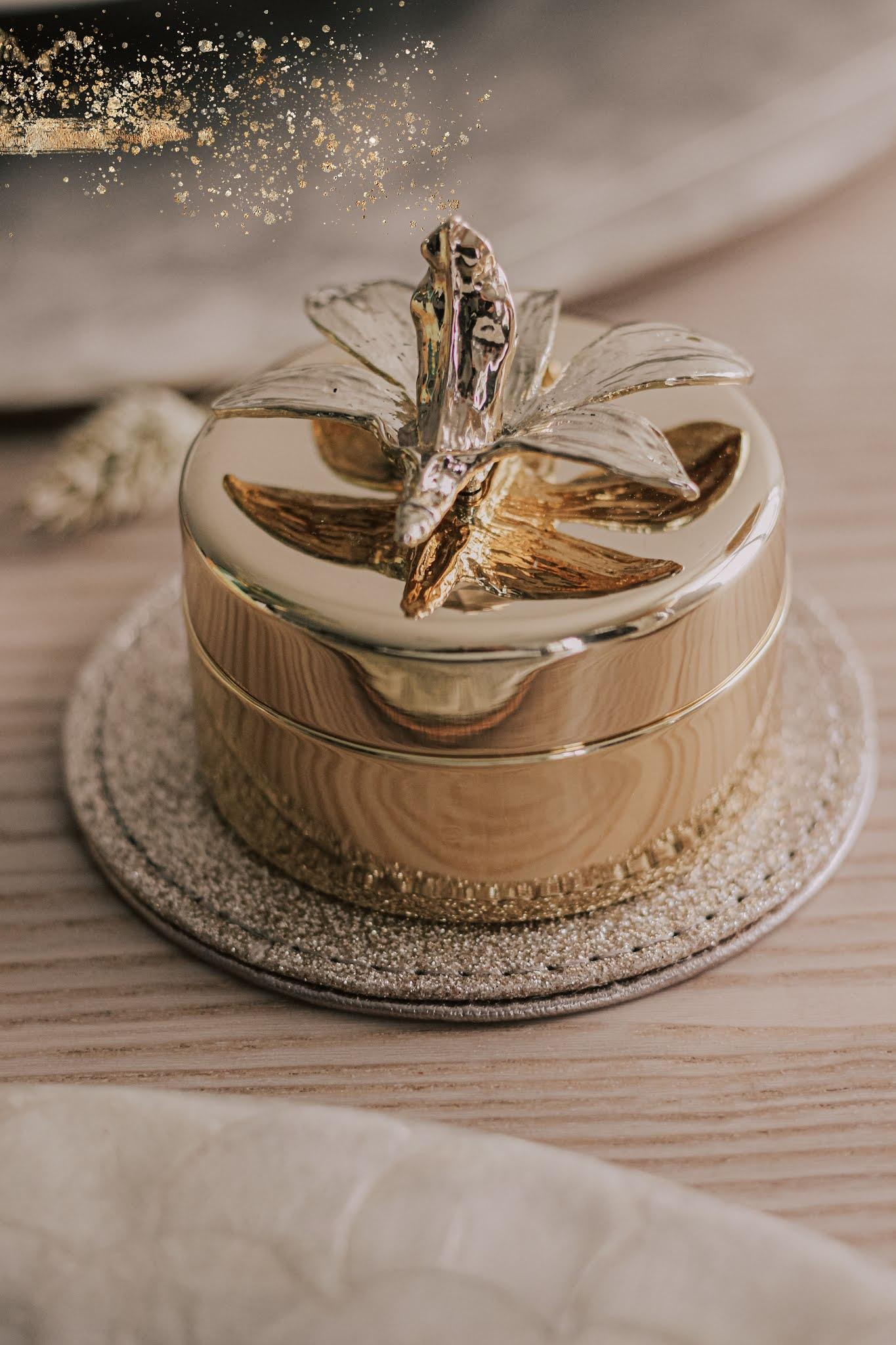 Joanna Buchanan Gold Orchid Jewelry Box