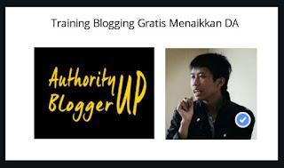 Training Blogging Menaikkan DA