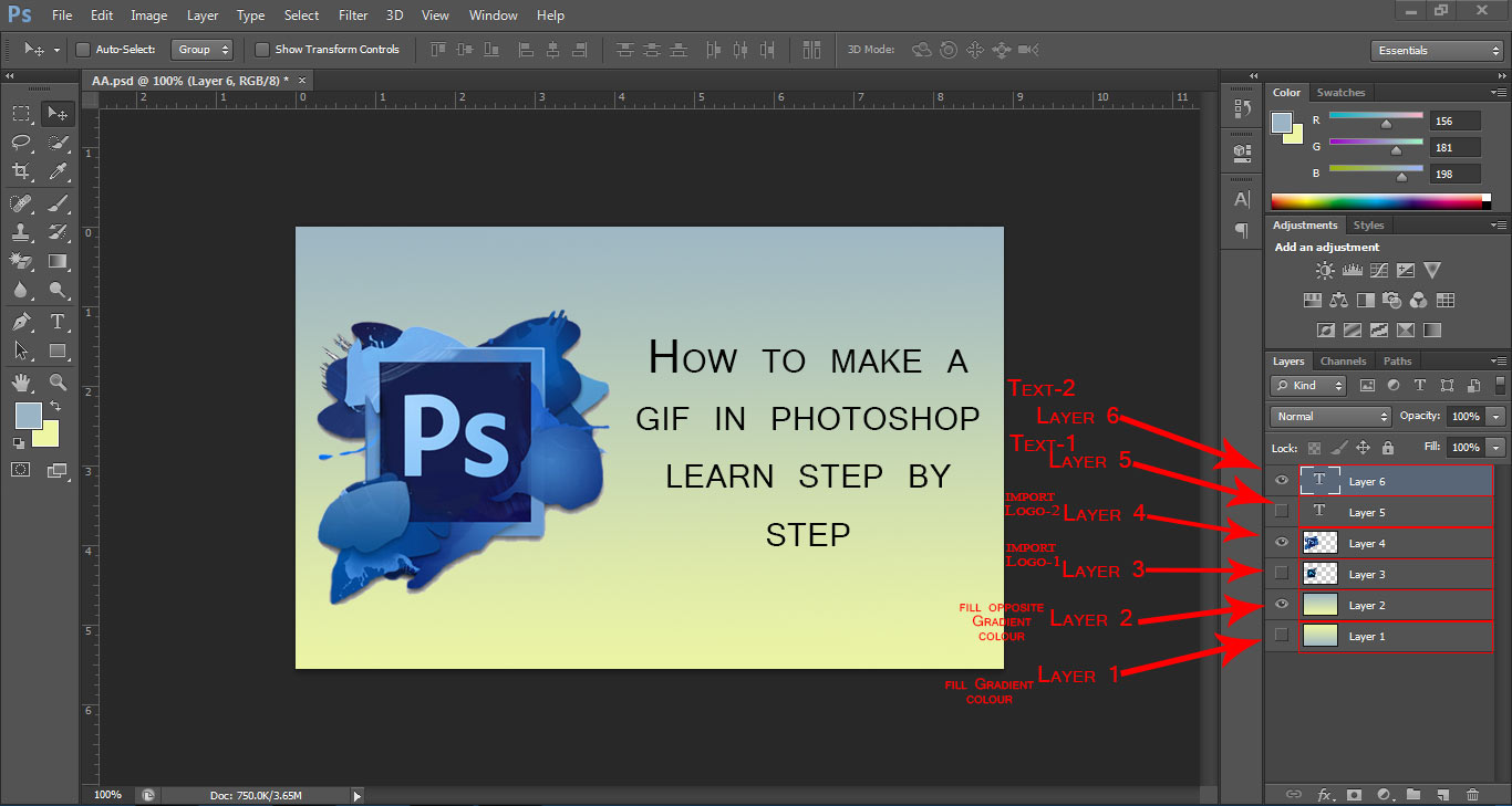how to make a gif in photoshop,how to make gif using photoshop,animated gif photoshop cs6,create animated gif in photoshop
