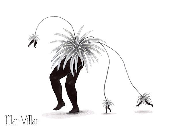Inktober, Inktober 2016, plantas, cinta, ilustración a tinta, piernas, tinta, aguada de tinta, quink, tinta parker