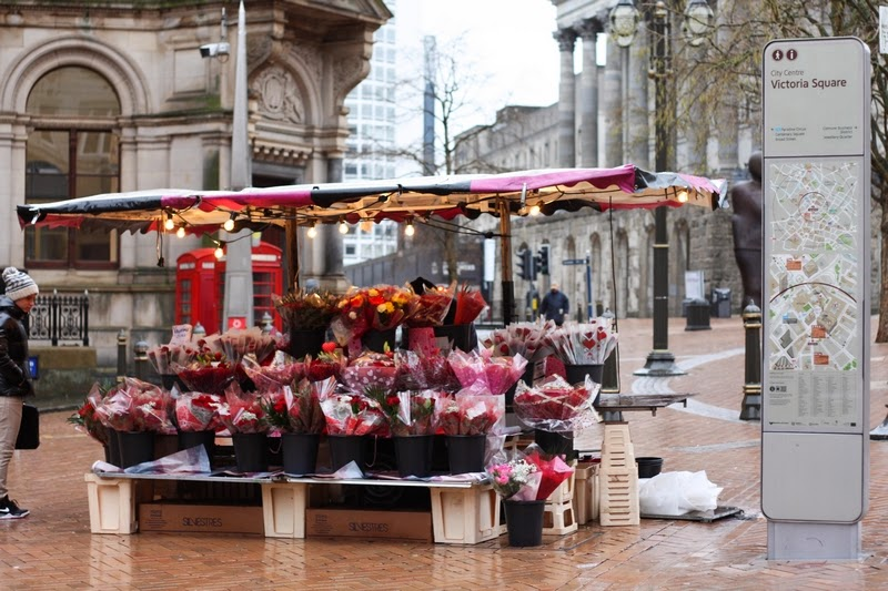 Birmingham city centre floral stall