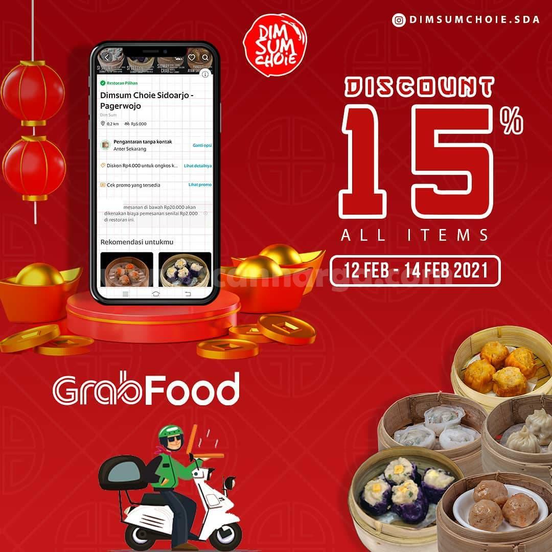 Dimsum Choie Spesial Promo Grabfood! Diskon 15% All Items