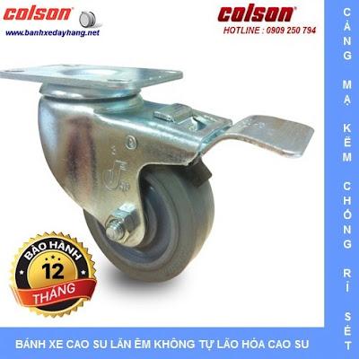 Bánh xe đẩy cao su đặc giá rẻ SP Caster Colson Mỹ tại Gia Lai www.banhxeday.xyz