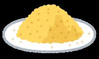 粉のイラスト(黄色)