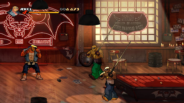 Screenshot of a bar in Streets of Rage 4