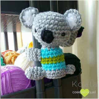 patron amigurumi Koala cosicasraquel
