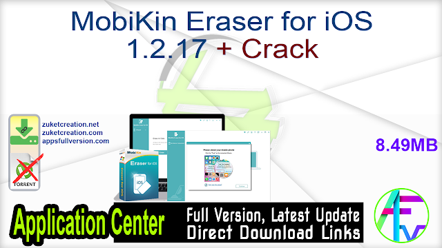 MobiKin Eraser for iOS 1.2.17 + Crack