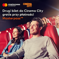 Drugi bilet do kina Cinema City gratis dla płacących z Masterpass