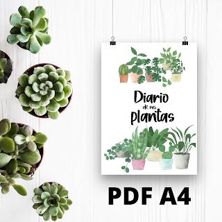 DIARIO, PLANTAS, JARDIN, PDF, A4, IMPRIMIR, DESCARGAR
