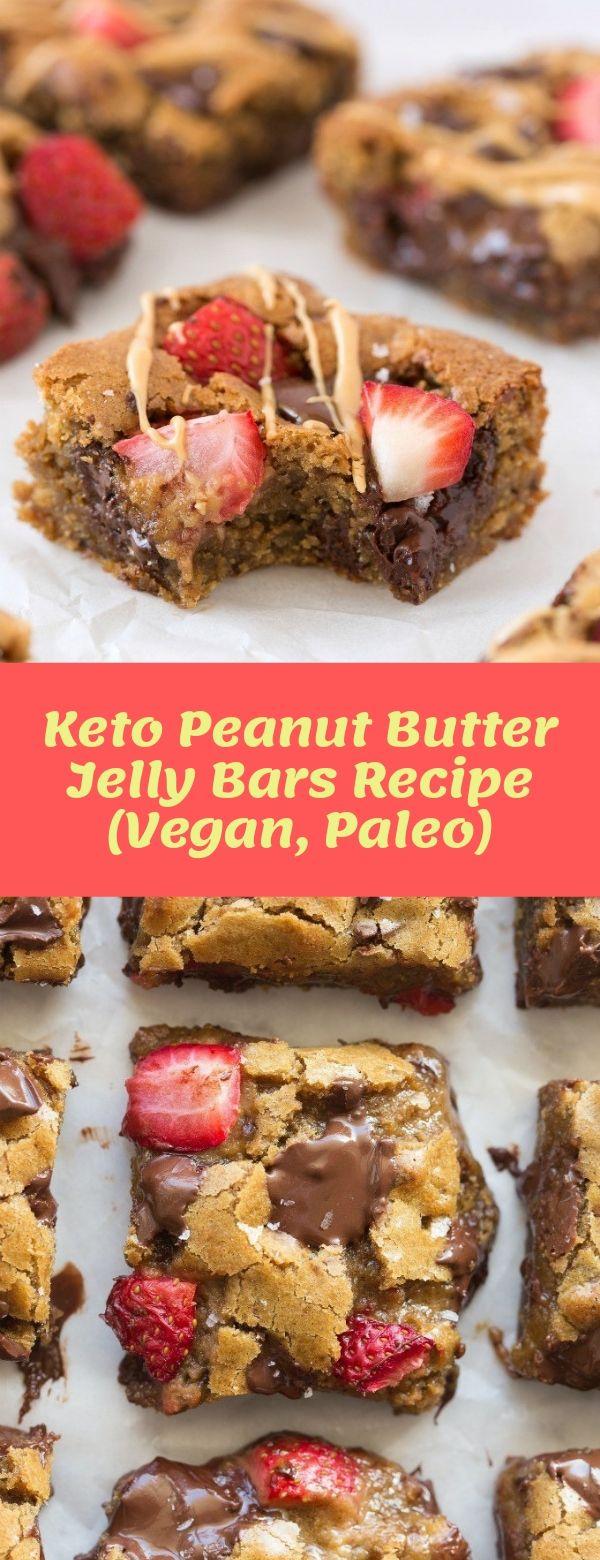 Keto Peanut Butter Jelly Bars Recipe (Vegan, Paleo)