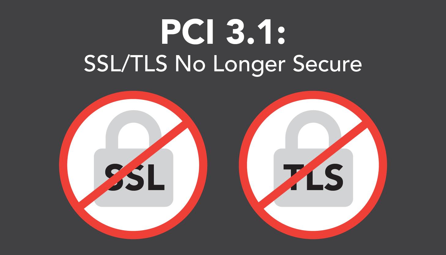 PCI 3.1 SSL TLS