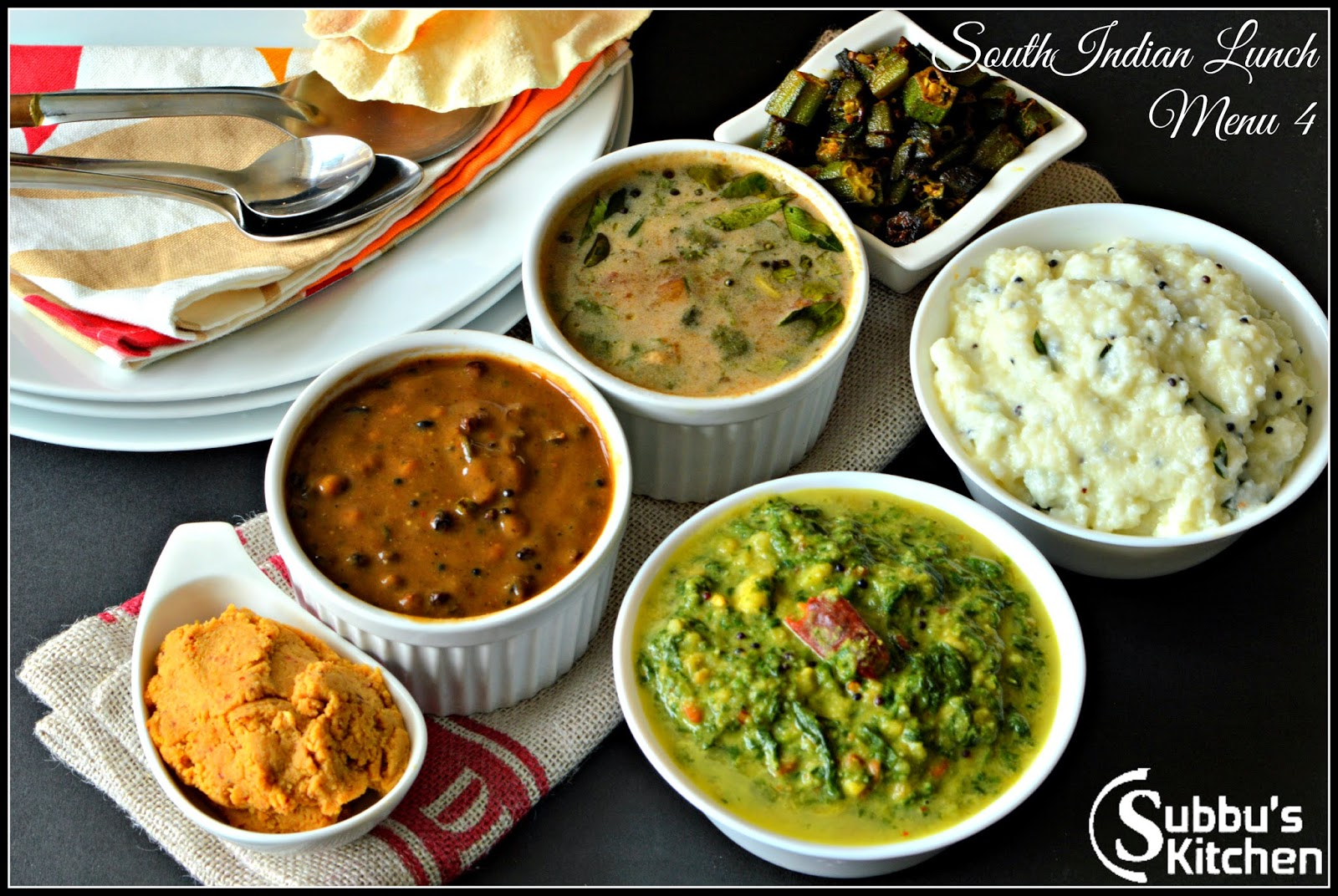 South Indian Lunch Menu 4 - Vathakuzhambu, Araitha Rasam ...