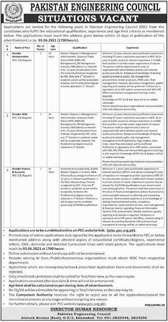pakistan-engineering-council-pec-jobs-2021-apply-online
