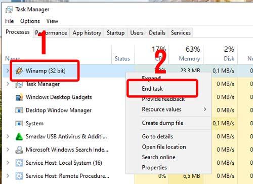 Cara Mematikan Aplikasi Not Responding via Task Manager