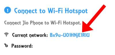 connect jio phone with wifi hotspot