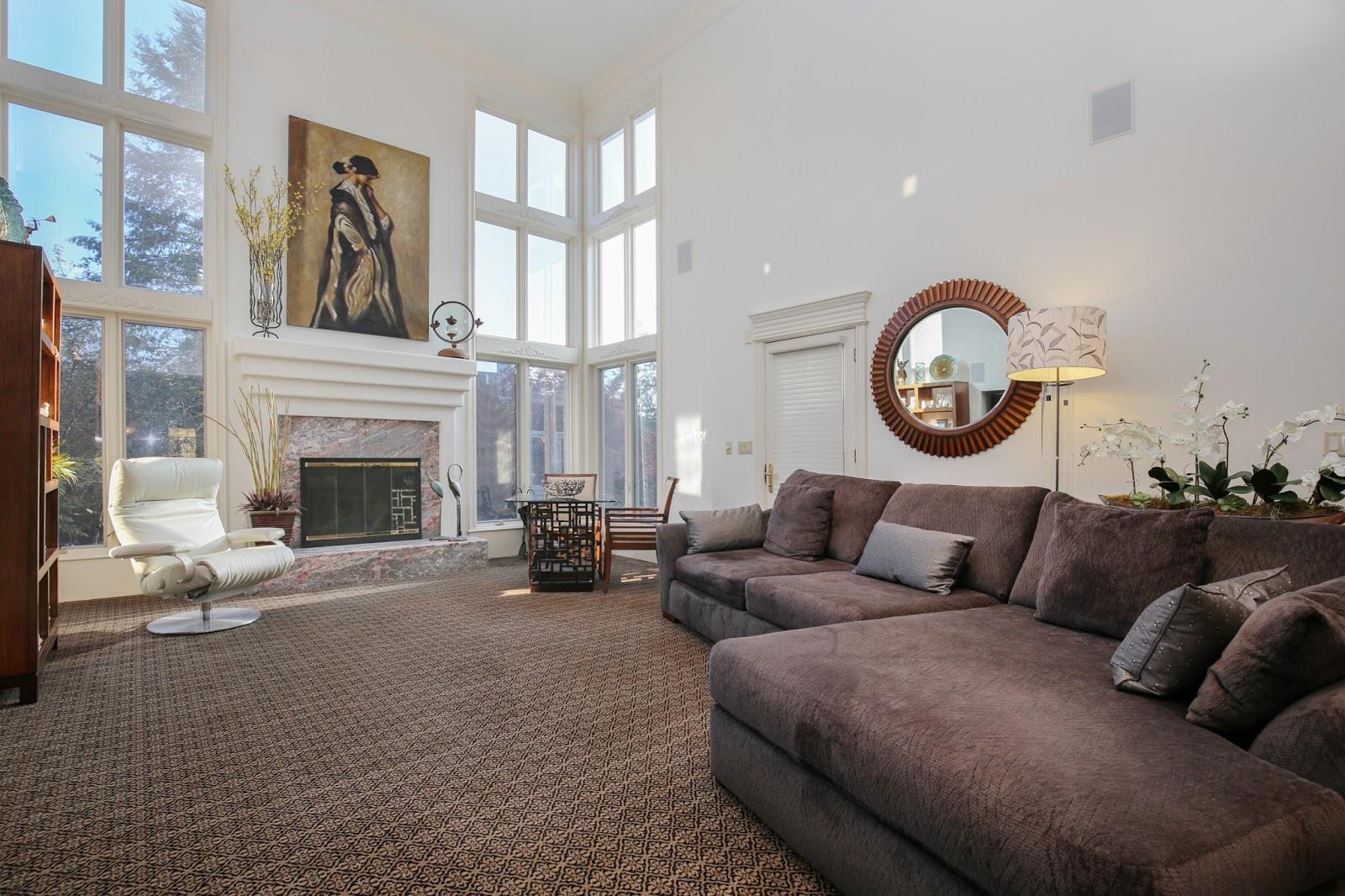 real estate photographer living room Northville Canton Novi Ann arbor