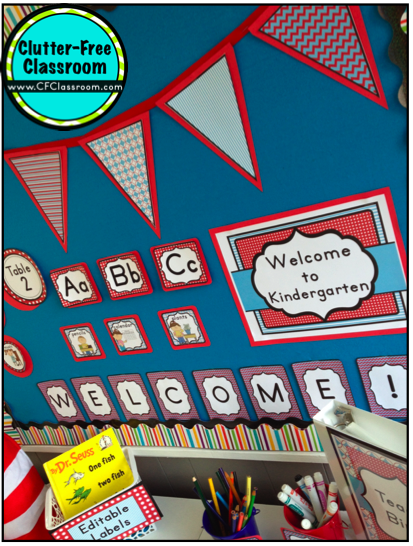 Classroom Decoration Ideas For St Grade ~ Dr seuss theme classroom clutter free