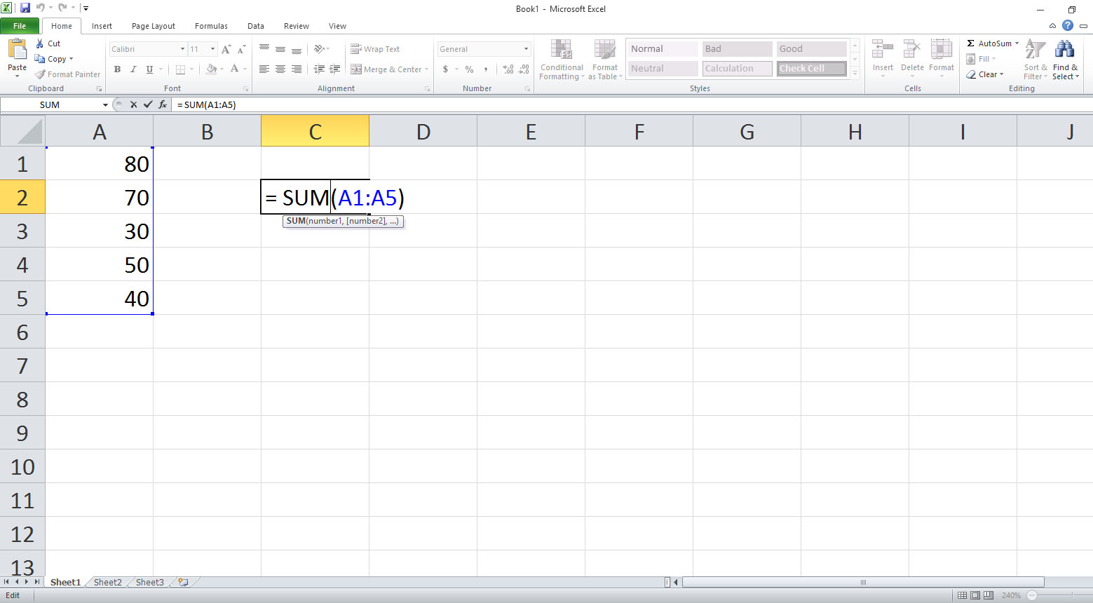 Ms Excel Functions