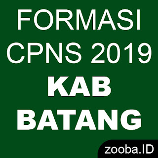 Formasi CPNS 2019 Resmi Kabupaten Batang Jateng