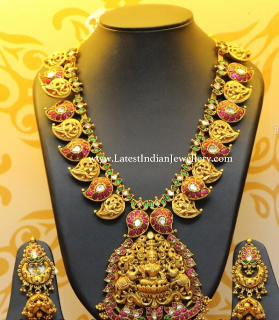 Antique Ruby Mango Haram Chandbalis
