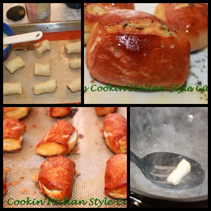 these are how to make soft pretzel bites from scratch. How to cut, boil, and bake. All photos or instructions on how to do them