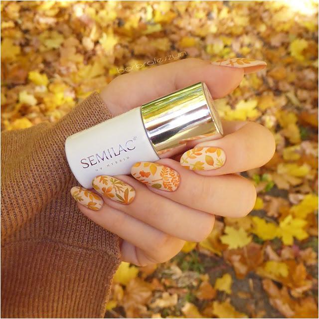 semilac jesienne paznokcie