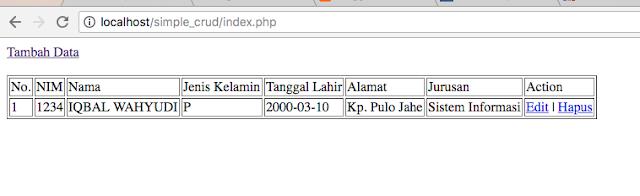 tutorial crud php mysql sederhana aneiqbal