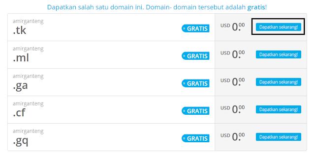 Memilih Nama Domain Gratis