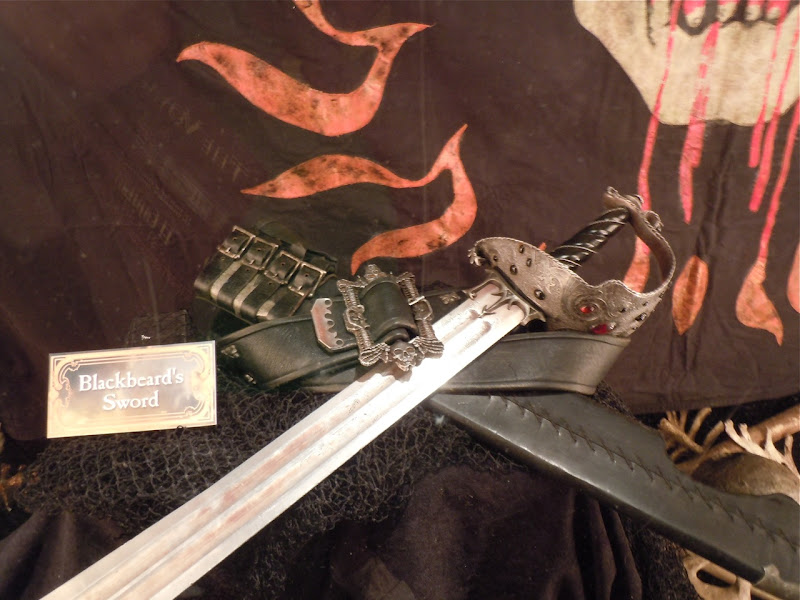 Blackbeard's sword prop Pirates of the Caribbean