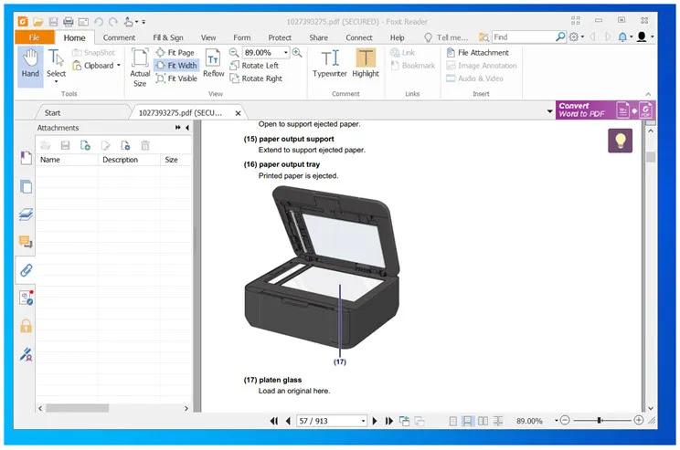 Foxit PDF Reader :  Δωρεάν, γρήγορο  και  με πολλές δυνατότητες πρόγραμμα προβολής  αρχείων PDF