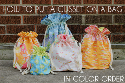 How to Put a Gusset on a Bag Video Tutorial - In Color Order