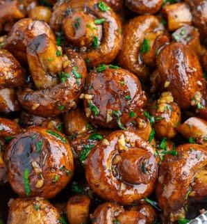 Marinated Roasted Mushrooms Recipe