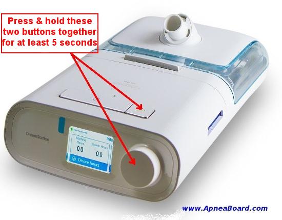 Ustawienia zaawansowane w aparacie CPAP.