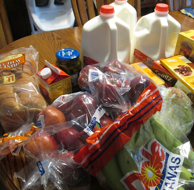 Aldi's shopping for 2nd week of NO Spend January 2016-Vickie's Kitchen and Garden
