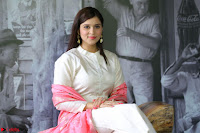Mannara Chopra in Silky White Salwar Suit with Pink Chunni Latest Exclusive Pics March 2017 ~  002.JPG