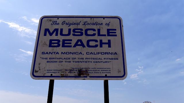 The Original Location of Muscle Beach - Santa Monica